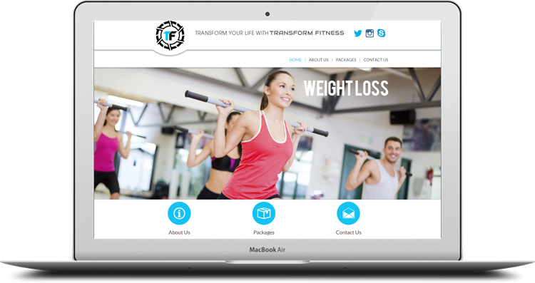 Tformfitness.com design by Web Gateway India